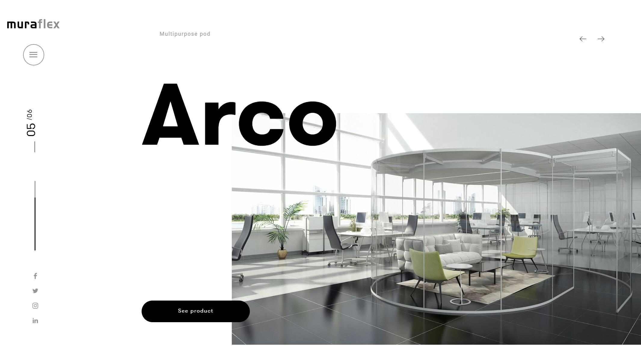 Website design inspiration – Muraflex
