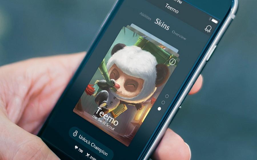League Of Legends App Concept PSD