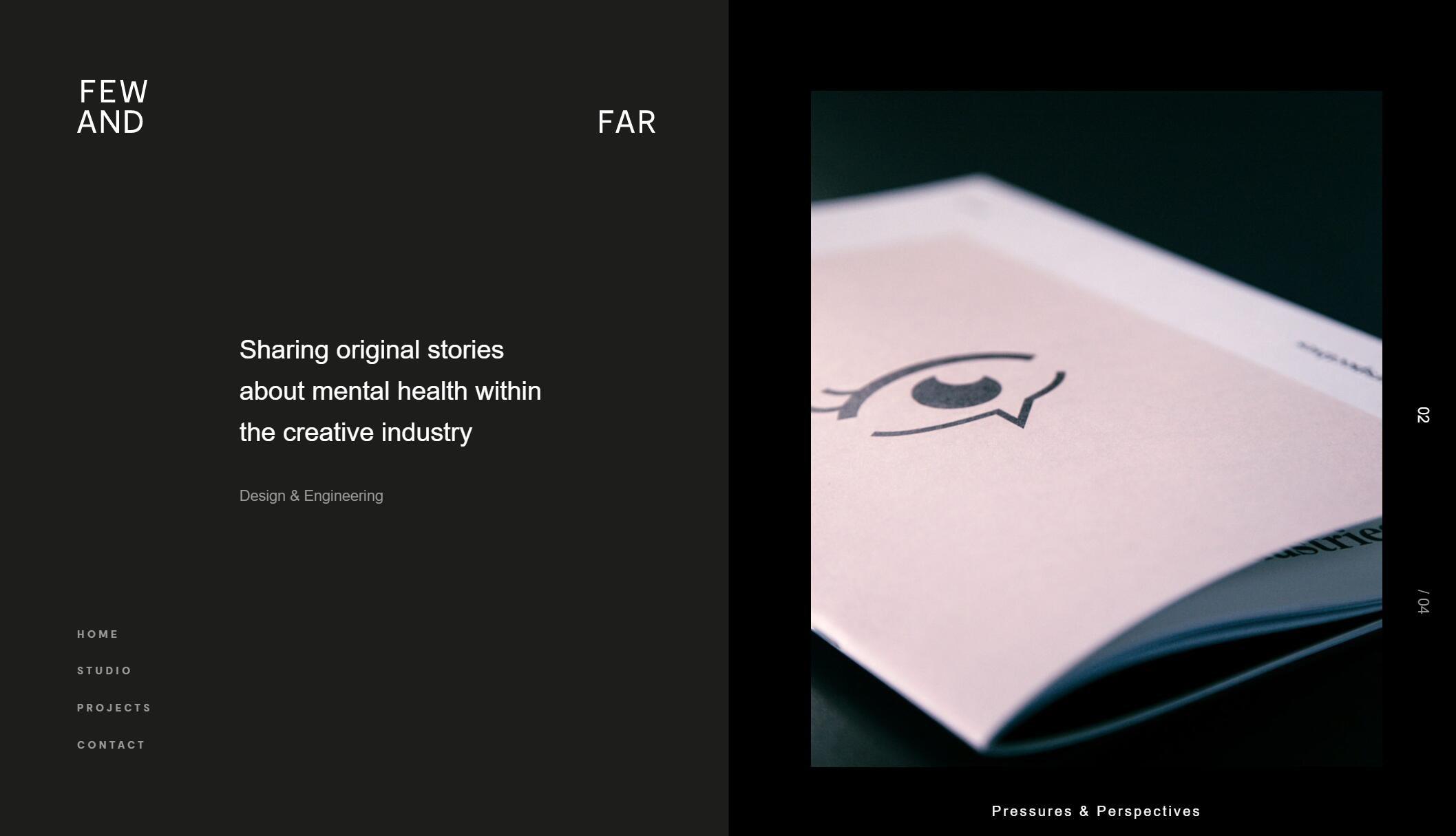 Website design inspiration – Few and Far