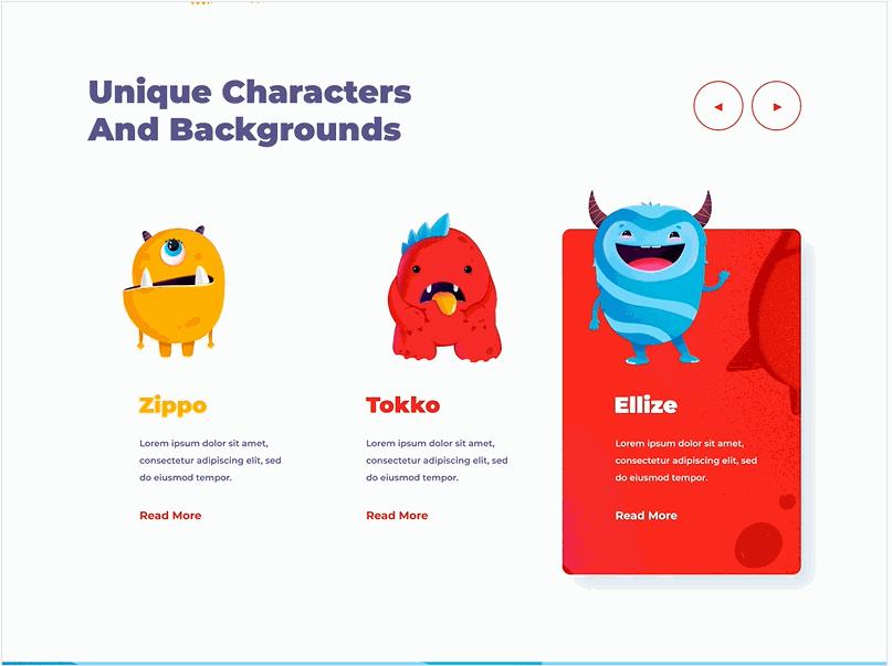 Web design inspiration - Monsters.gif