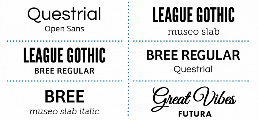 Fonts selection