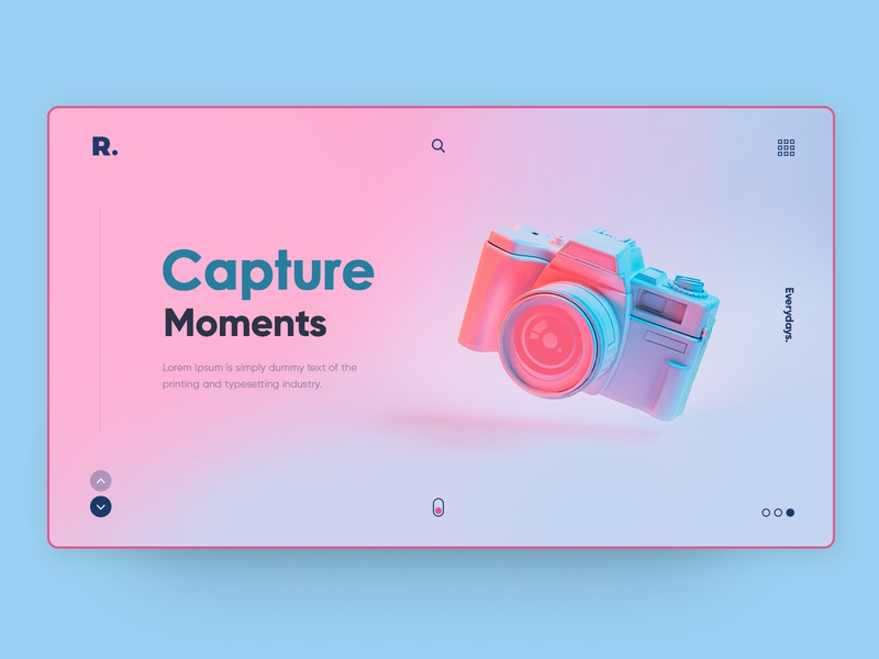 Website background design Capture Moments