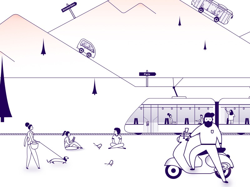 Illustrations mobility as a service