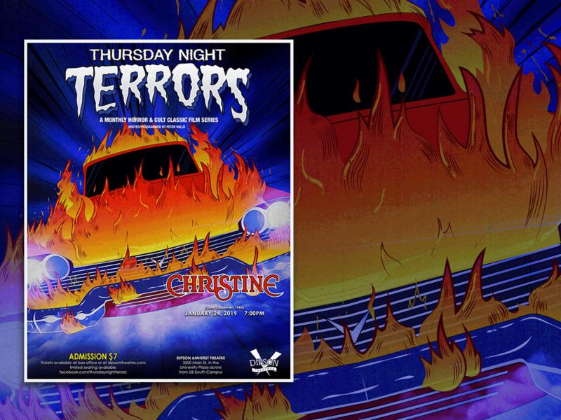 Thursday Night Terrors Christine Poster