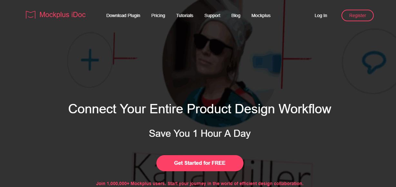Website background design Mockplus iDoc