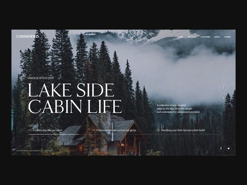 cabin wild lake side