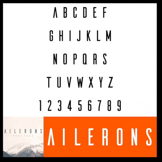 ailerons font