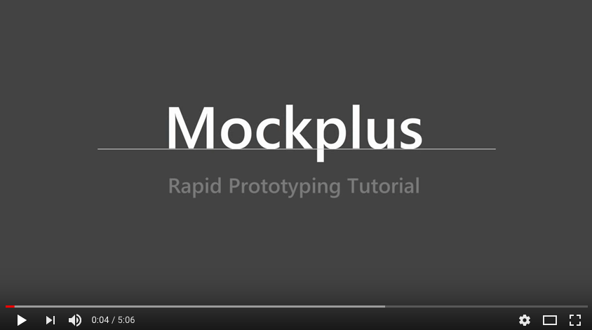 Mockplus rapid prototyping tutorial