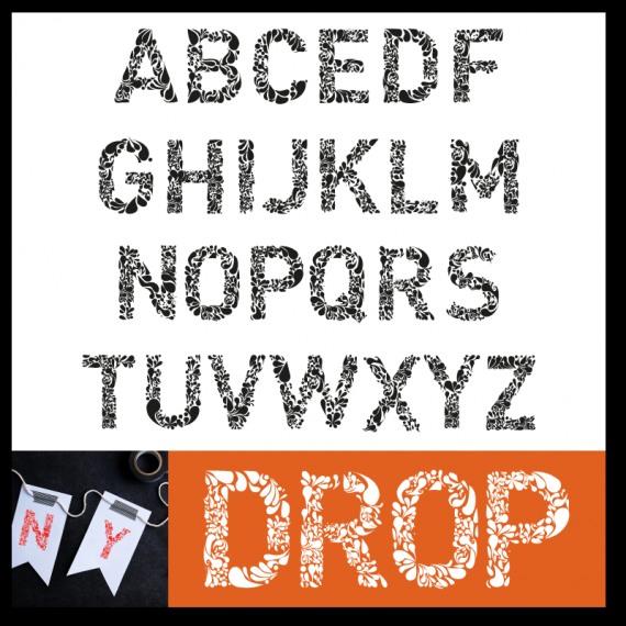 Drop Type font