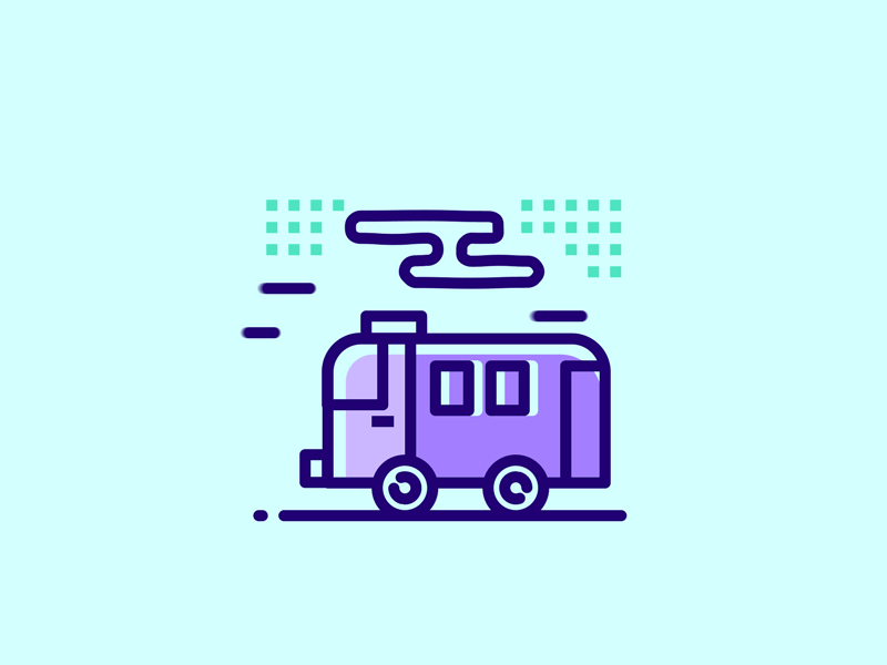 Cute Buss Loading Animation