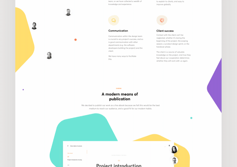 Web design inspiration - Live - E - Book.gif
