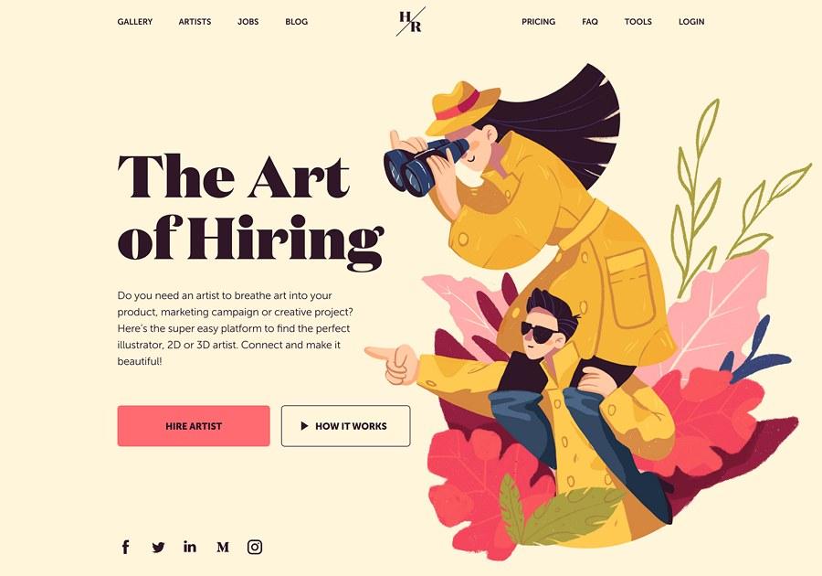 Trendy Illustrated Website Design