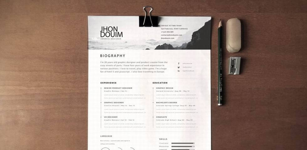 2017 Resume Page Template