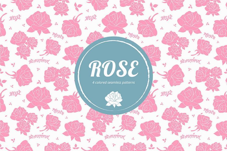 Seamless Roses Free Pattern