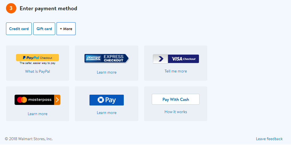 Provide different payment options and design a perfect credit card form