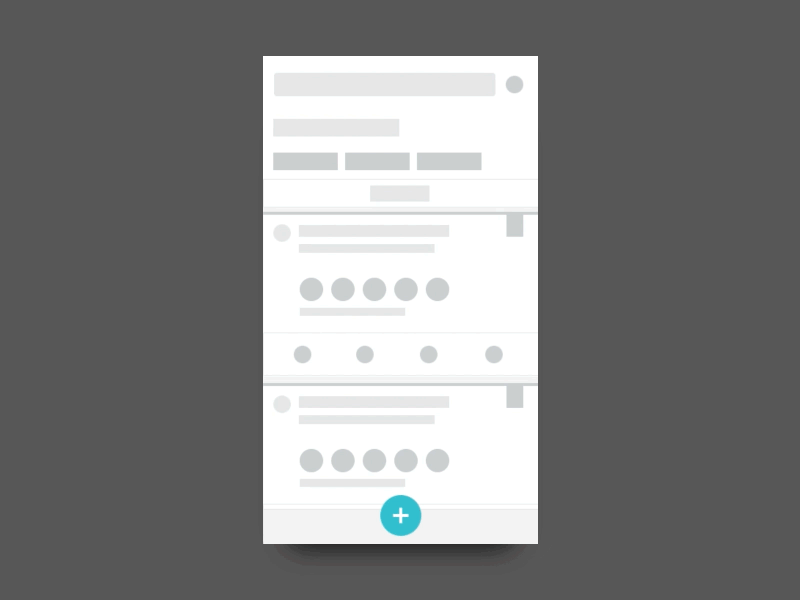 Mobile App Wireframe with Interactions