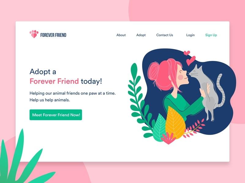 Adopt Pet Landing Page