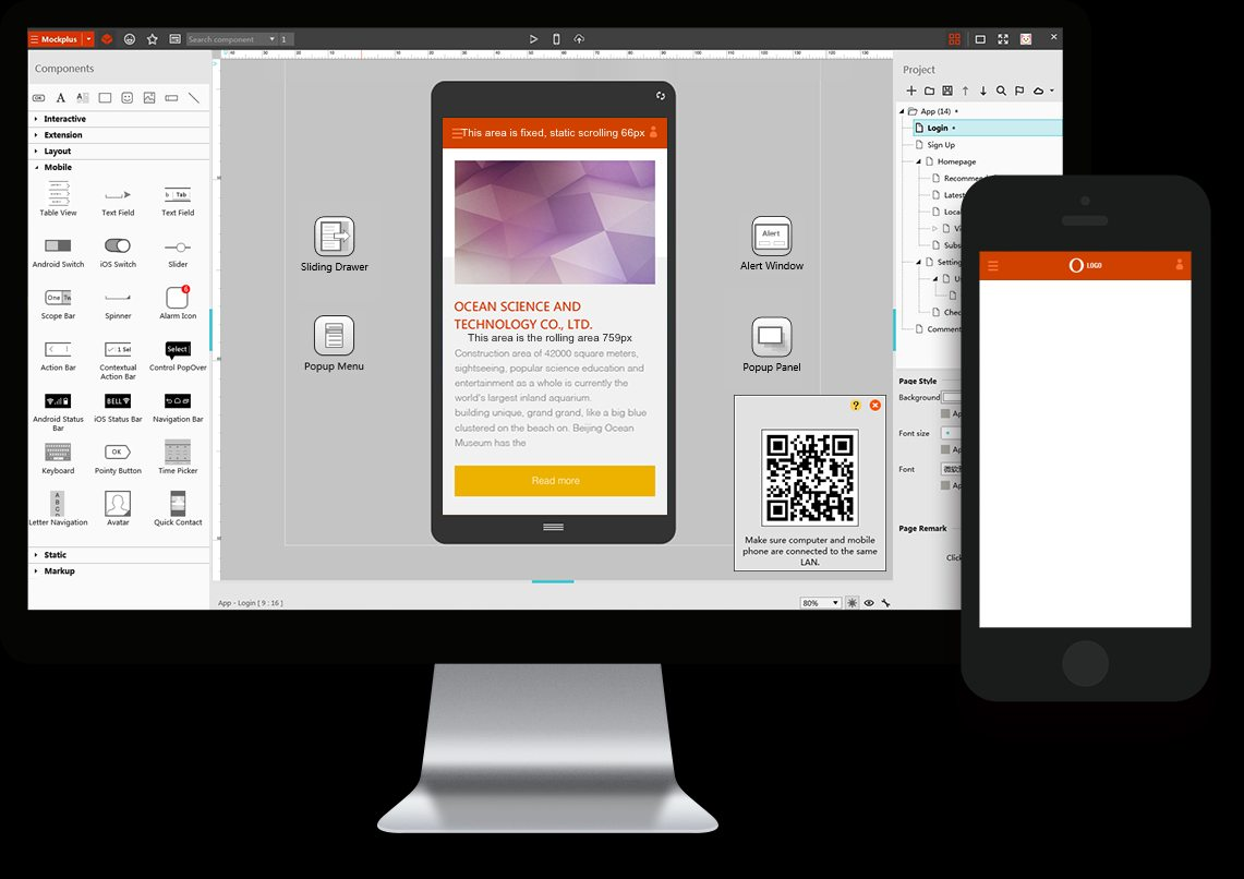 Mockplus can easy to add a real copy to prototype.