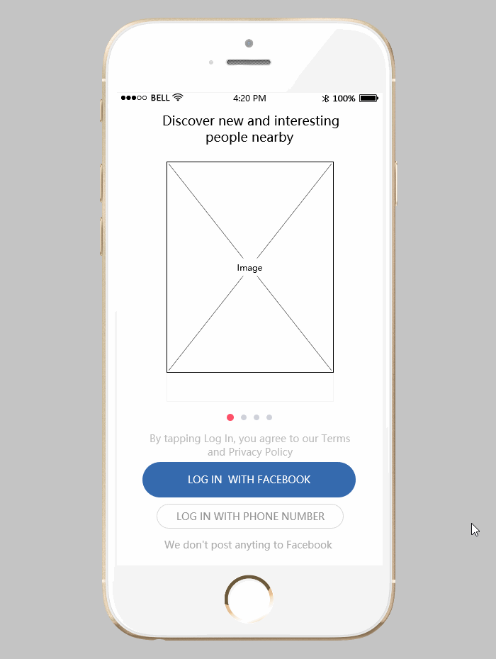 An Interactive Prototype Made by Mockplus