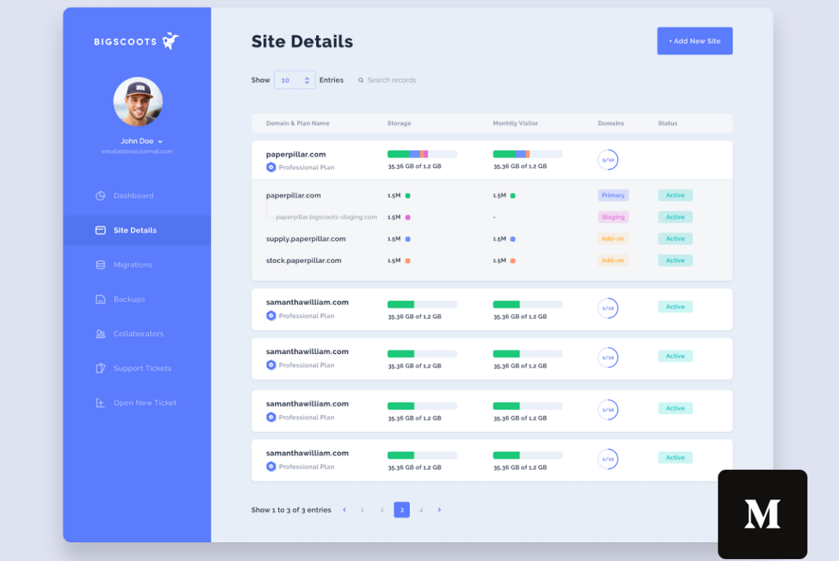 Dashboard Table Redesign