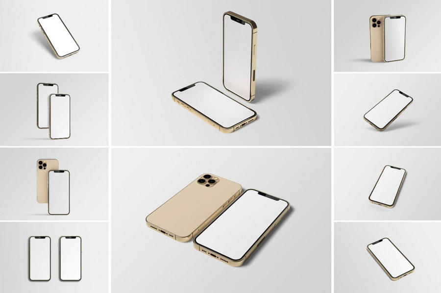 Free iPhone 12 Pro Mockup Studio
