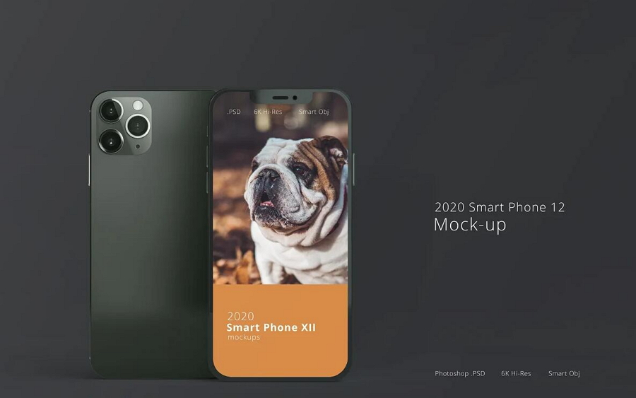 Realistic Smart iPhone 12 Mockups