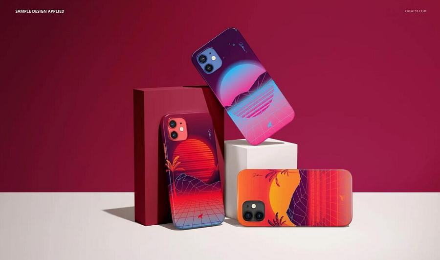 iPhone 12 Glossy Snap Case Mockup