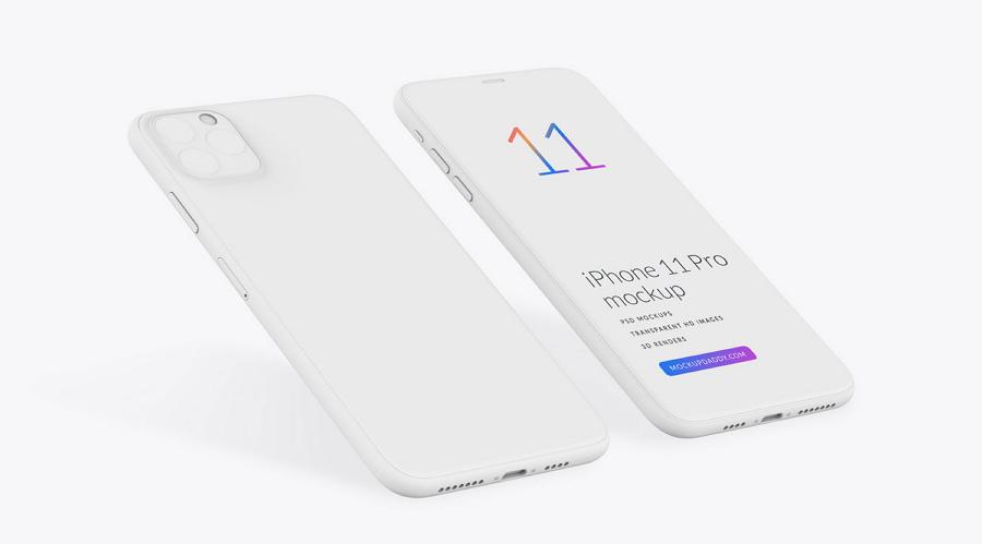 Isometric iPhone 11 Mockup