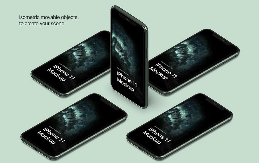 iPhone 11 Pro Mockup Kit Freebie