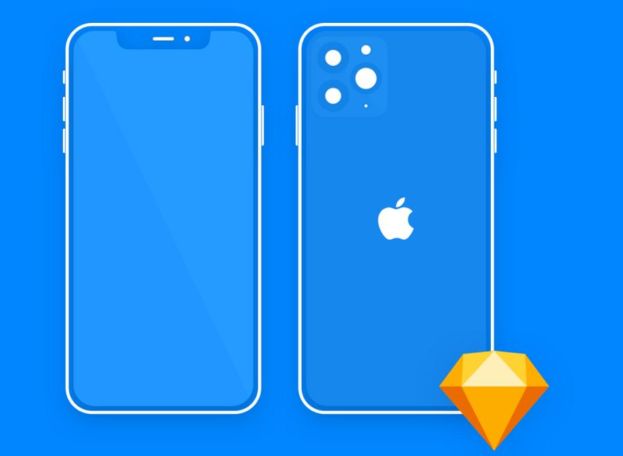 Free Minimal Mockup iPhone 11 Pro
