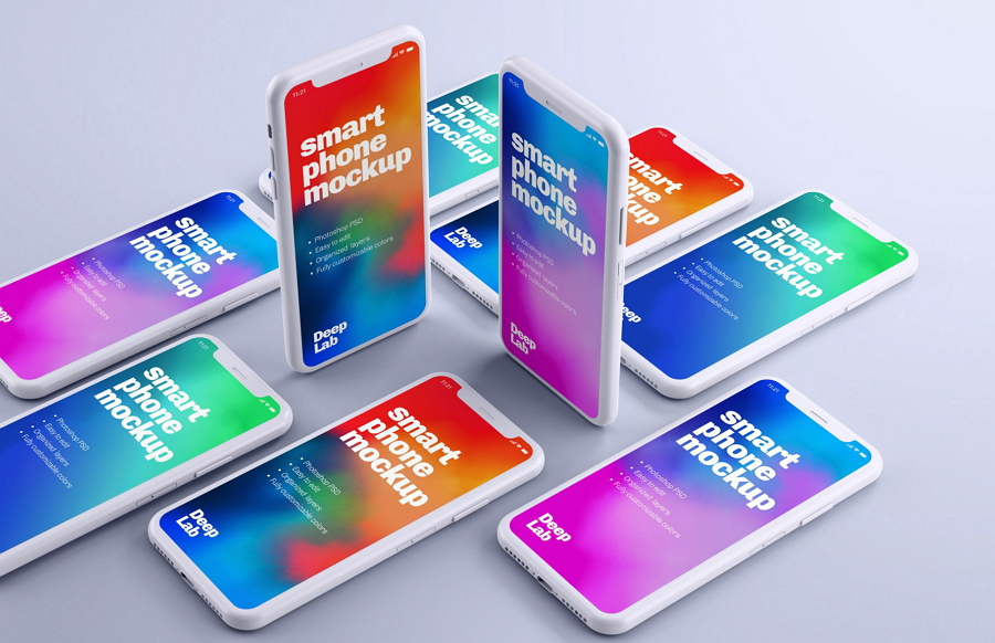 Free iPhone 11 Pro Clay Mockup Set