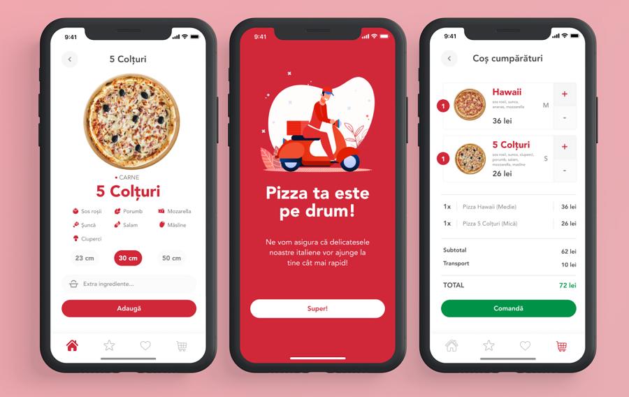 Food App Prototype Example