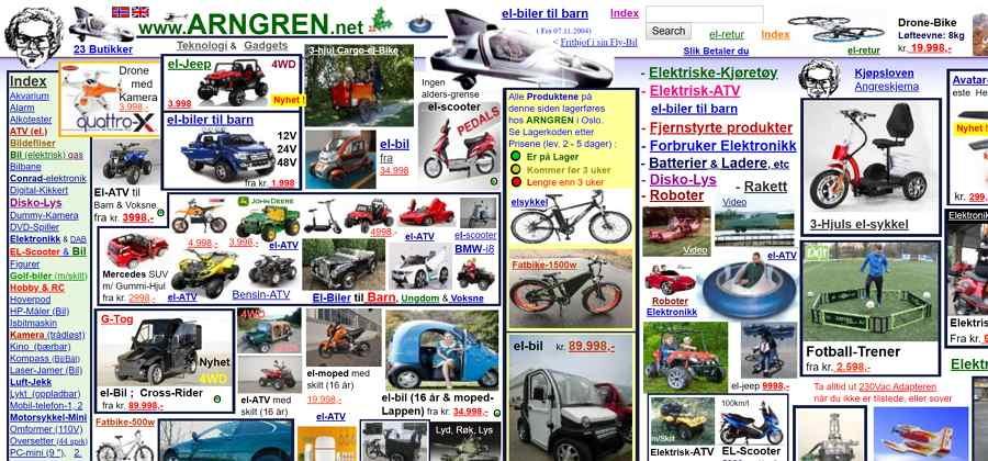 Poorly Designed Website