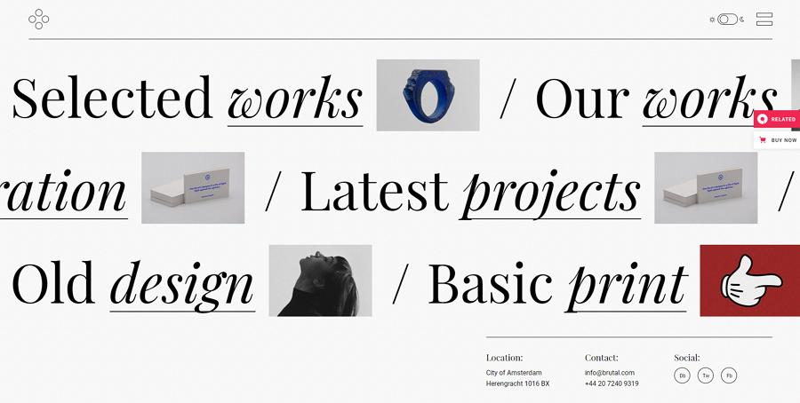 Breton Creative Agency Website Template