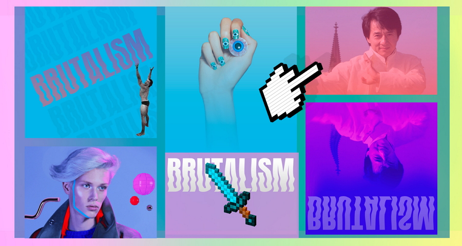 Brutalism Website with Large Bold Typography