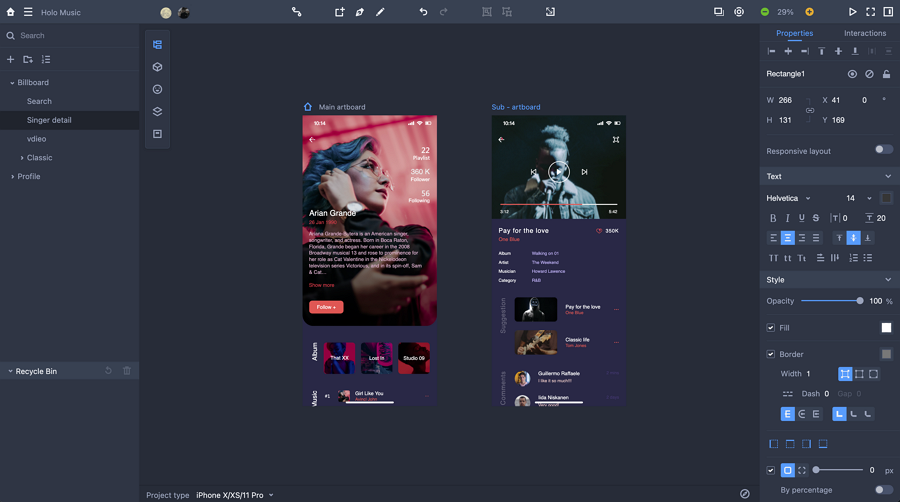 Dark Mode UI Prototyping and Testing in Mockplus