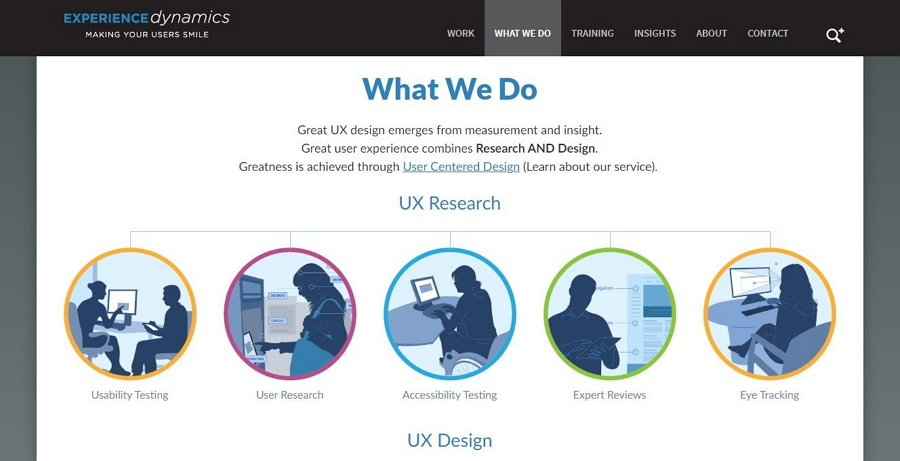 Website with Headings and Titles