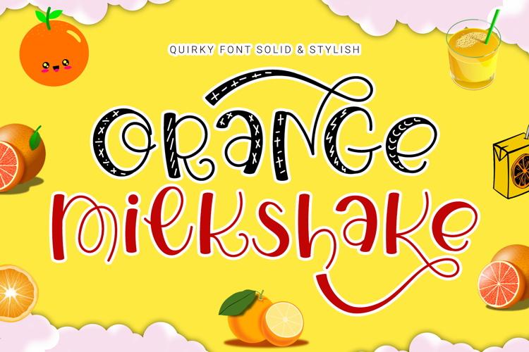 Orange Milkshake Font