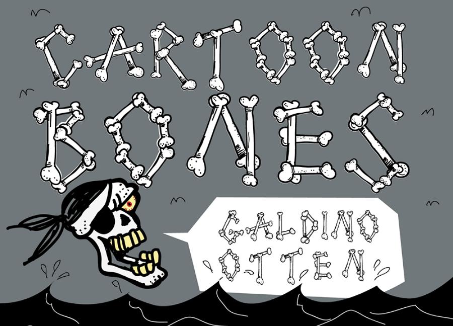 Cartoon Bone Font