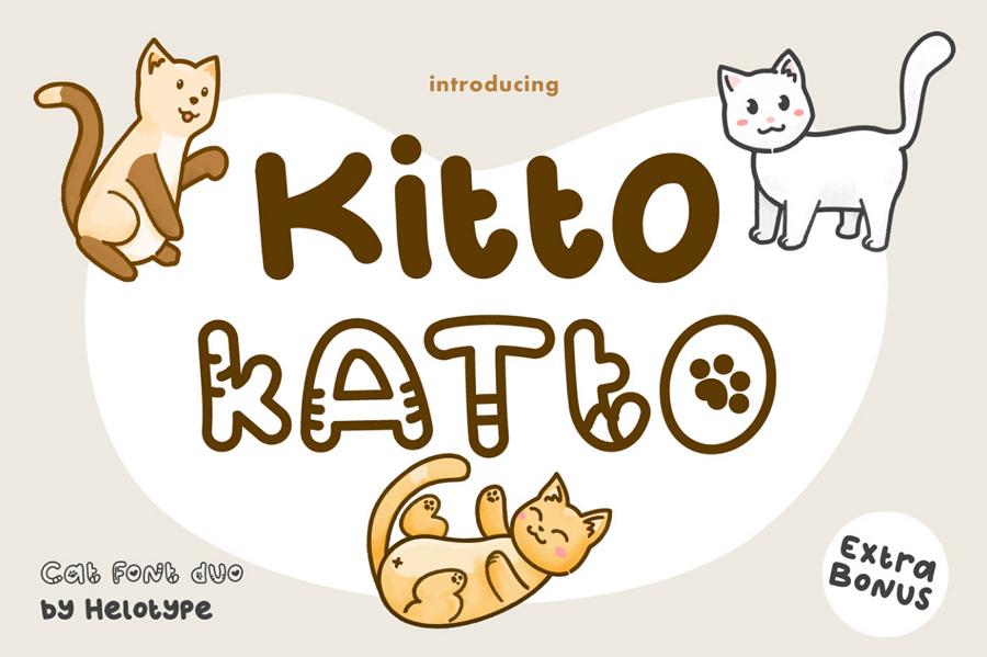 Kitto Katto Cat Typeface