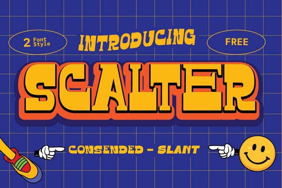 Free Scalter Typeface