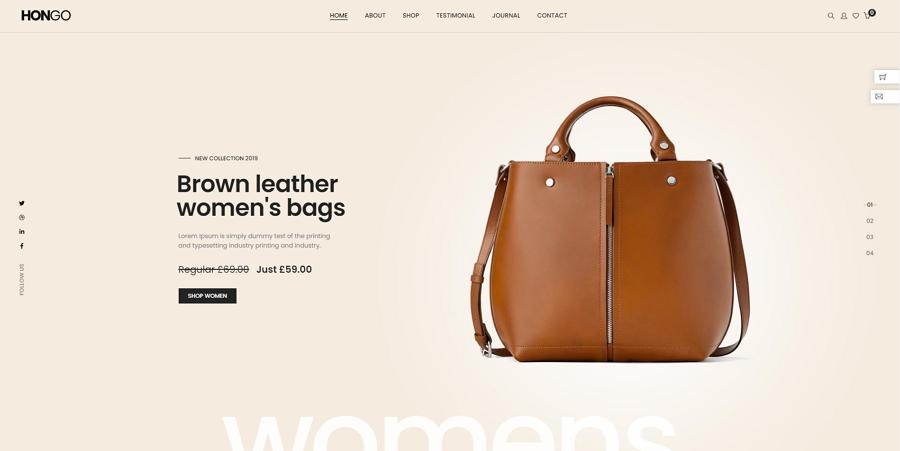 Hongo Website Template