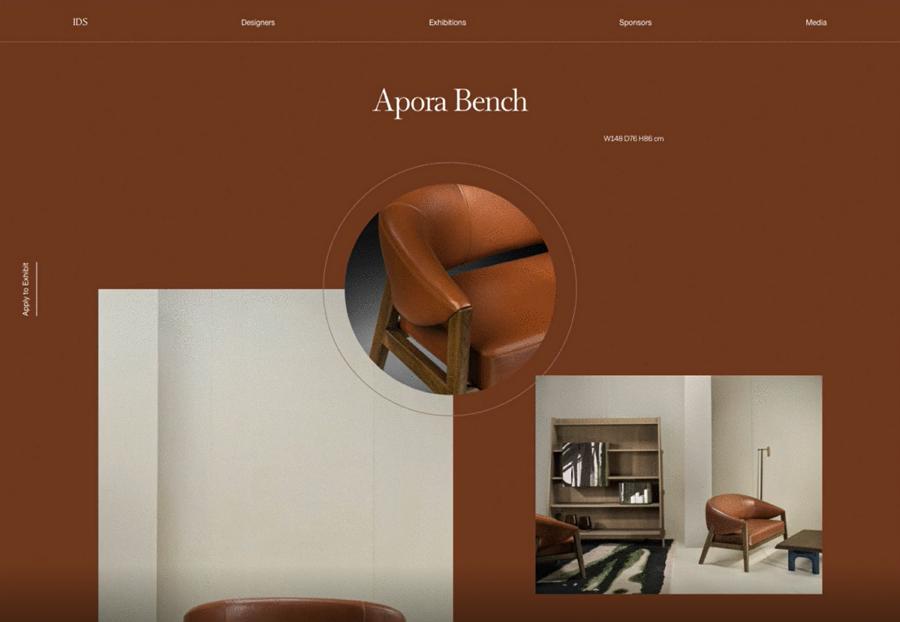 Furniture Website Layout Exploration
