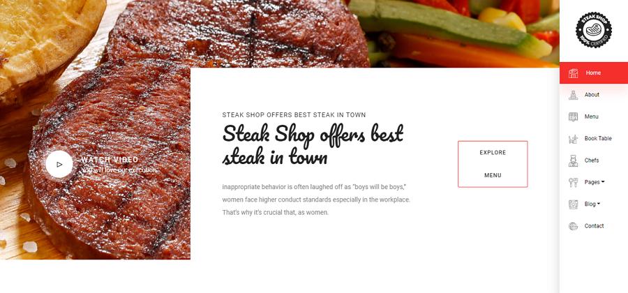 Steakshop Restaurant Template